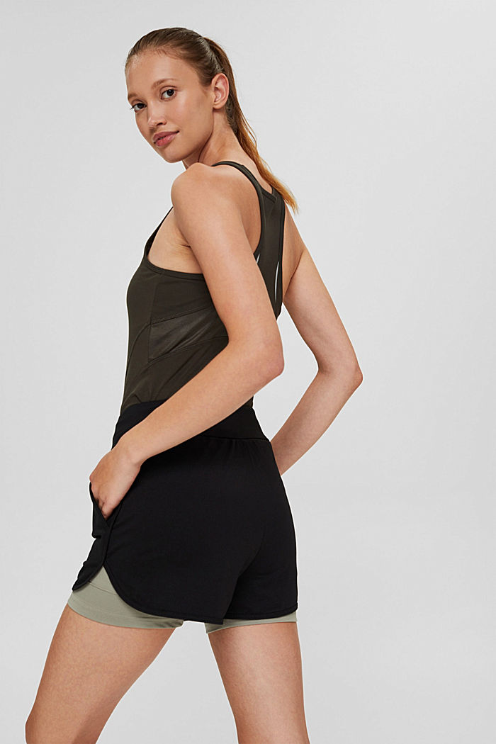 Recycelt: Double-Layer-Shorts, BLACK, detail image number 3