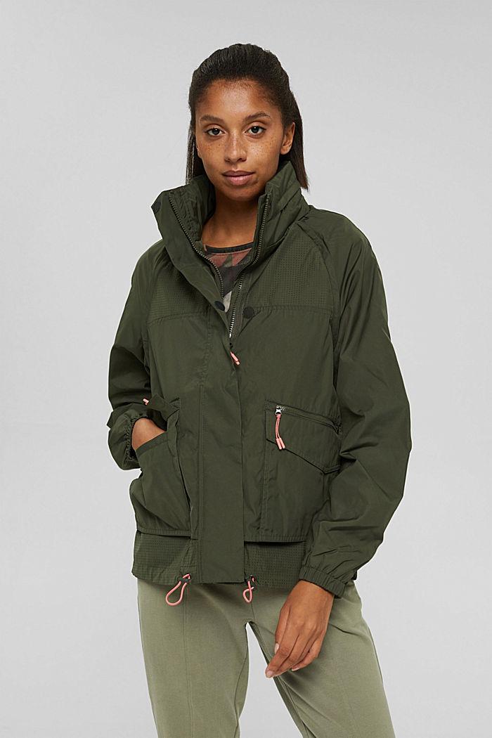 Multi-functional active jacket, DARK KHAKI, detail image number 0