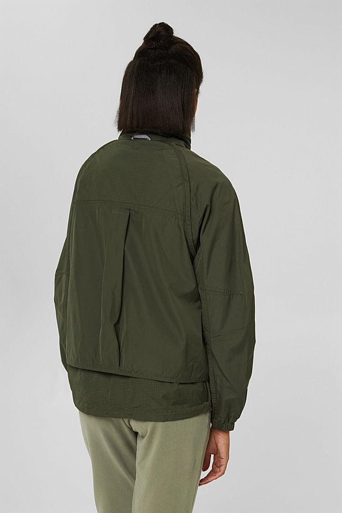 Multi-functional active jacket, DARK KHAKI, detail image number 3