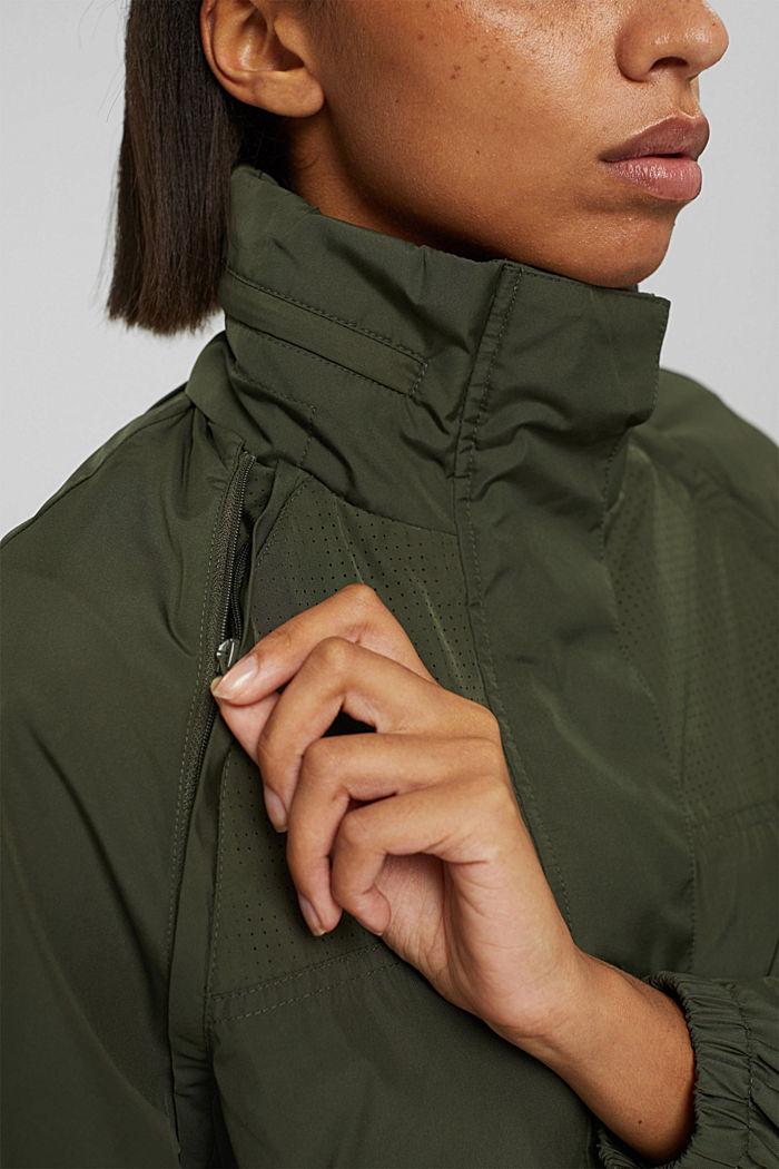 Multi-functional active jacket, DARK KHAKI, detail image number 2