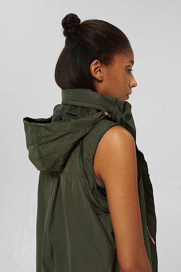 Multi-functional active jacket, DARK KHAKI, detail image number 5