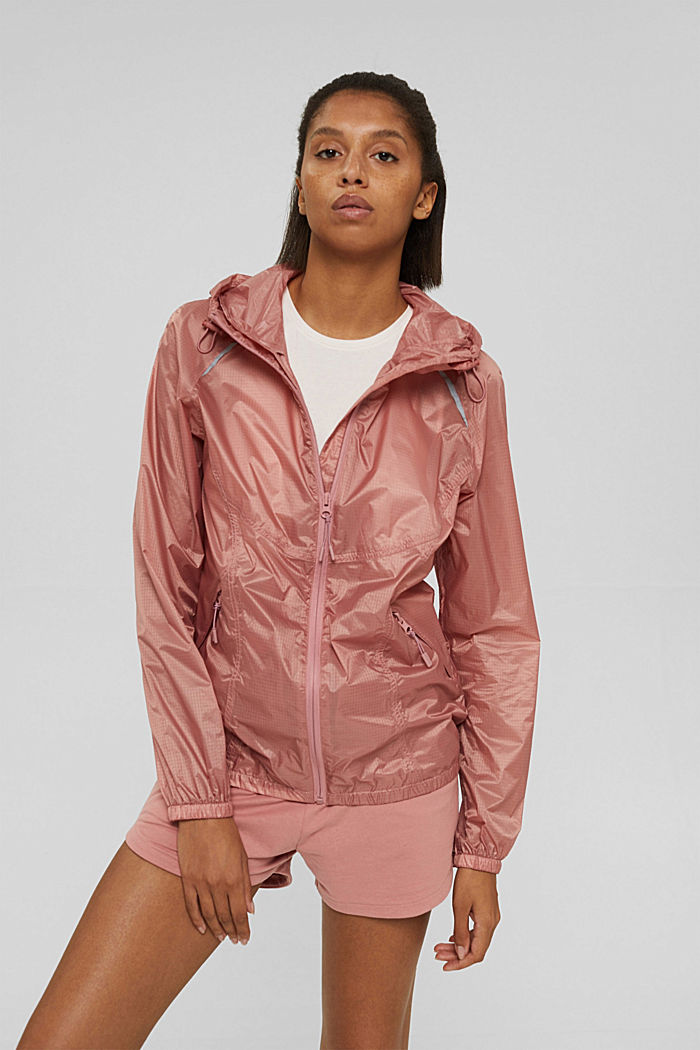 Water-resistant jacket with reflective details, OLD PINK, detail image number 0