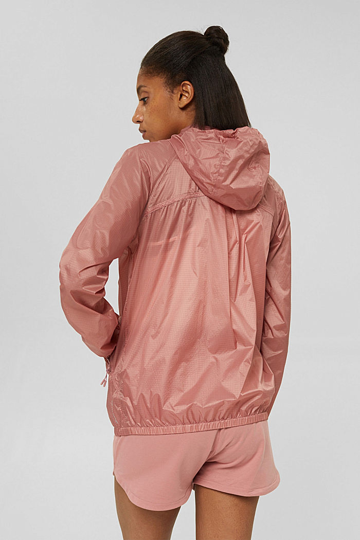 Water-resistant jacket with reflective details, OLD PINK, detail image number 3