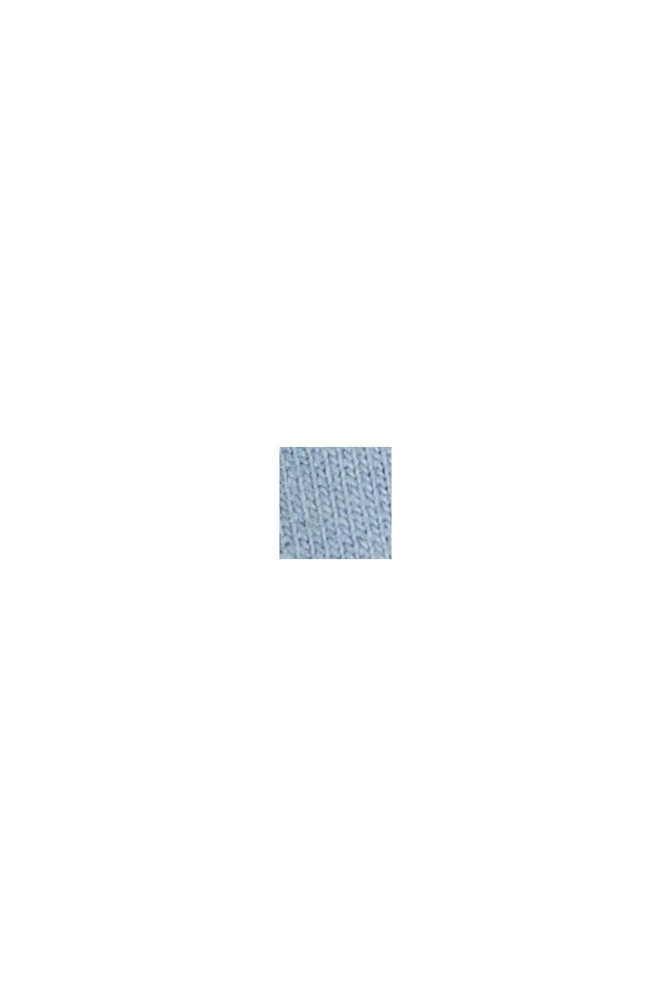 Cardigan molletonné à col montant, coton biologique, PASTEL BLUE, swatch