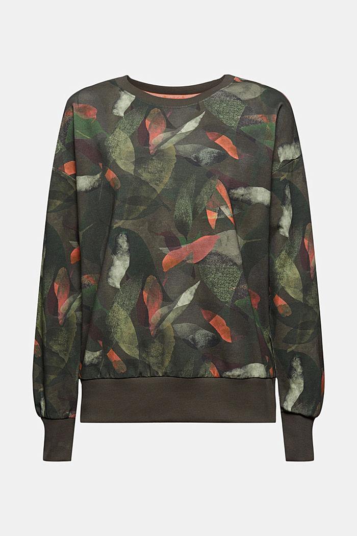 Sweatshirt mit Botanik-Print, Bio-Baumwolle