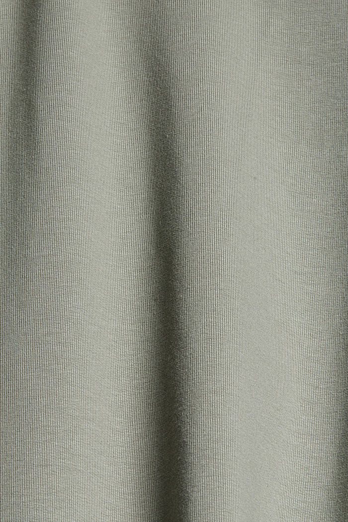CURVY sweatshirt hoodie, stretch organic cotton, LIGHT KHAKI, detail image number 4