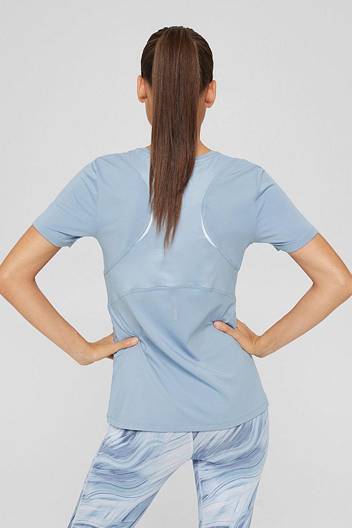 En matière recyclée: le t-shirt de sport doté de la technologie E-DRY, PASTEL BLUE, detail image number 3