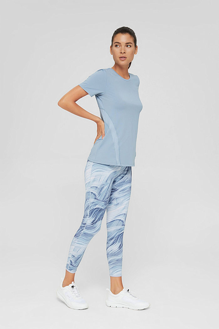 En matière recyclée: le t-shirt de sport doté de la technologie E-DRY, PASTEL BLUE, detail image number 1