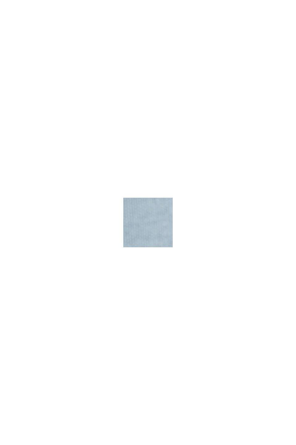 Van biologisch katoen/TENCEL™: shirt met mesh, PASTEL BLUE, swatch