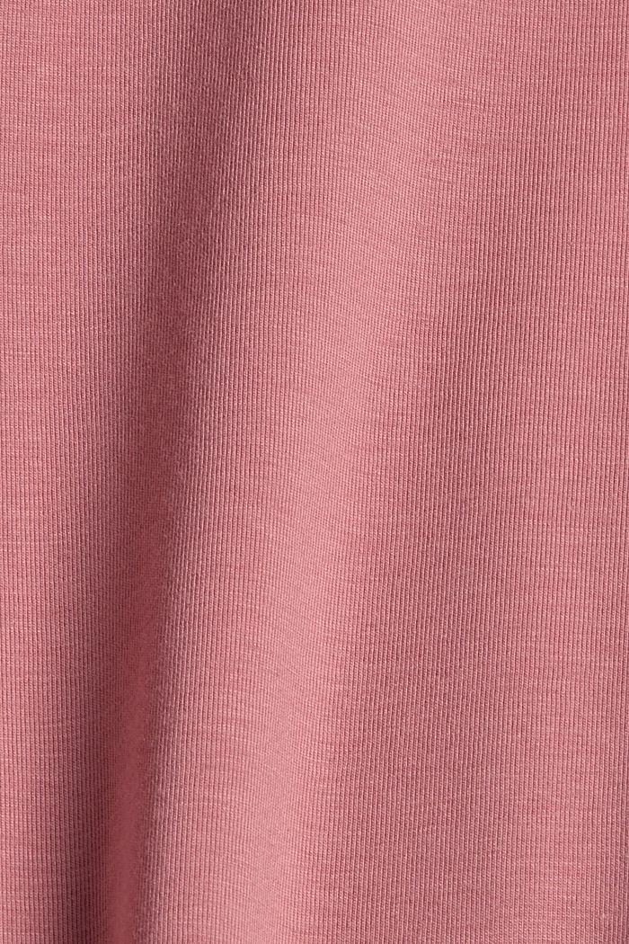 Bio bavlna / TENCEL™: tričko se síťovinou, OLD PINK, detail image number 4