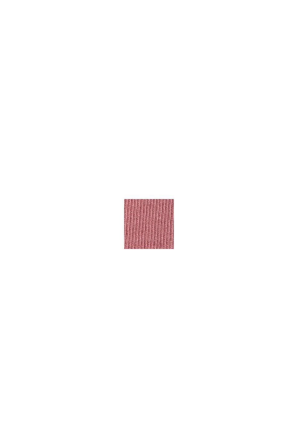 Aus Bio-Baumwolle/TENCEL™: Shirt mit Mesh, OLD PINK, swatch