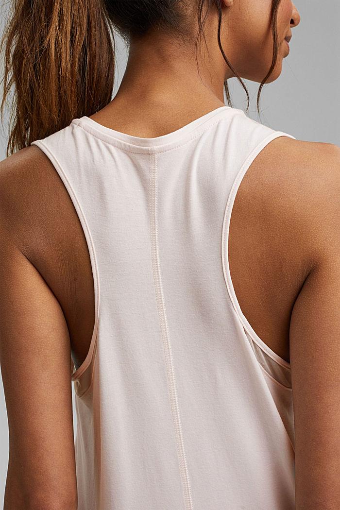 Van biologisch katoen/TENCEL™: shirt met mesh, PASTEL PINK, detail image number 2