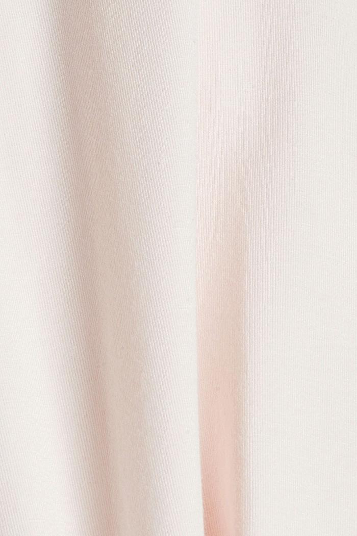 Van biologisch katoen/TENCEL™: shirt met mesh, PASTEL PINK, detail image number 4