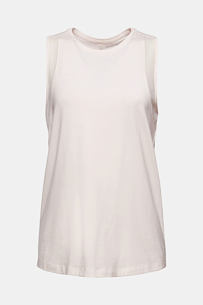 Van biologisch katoen/TENCEL™: shirt met mesh