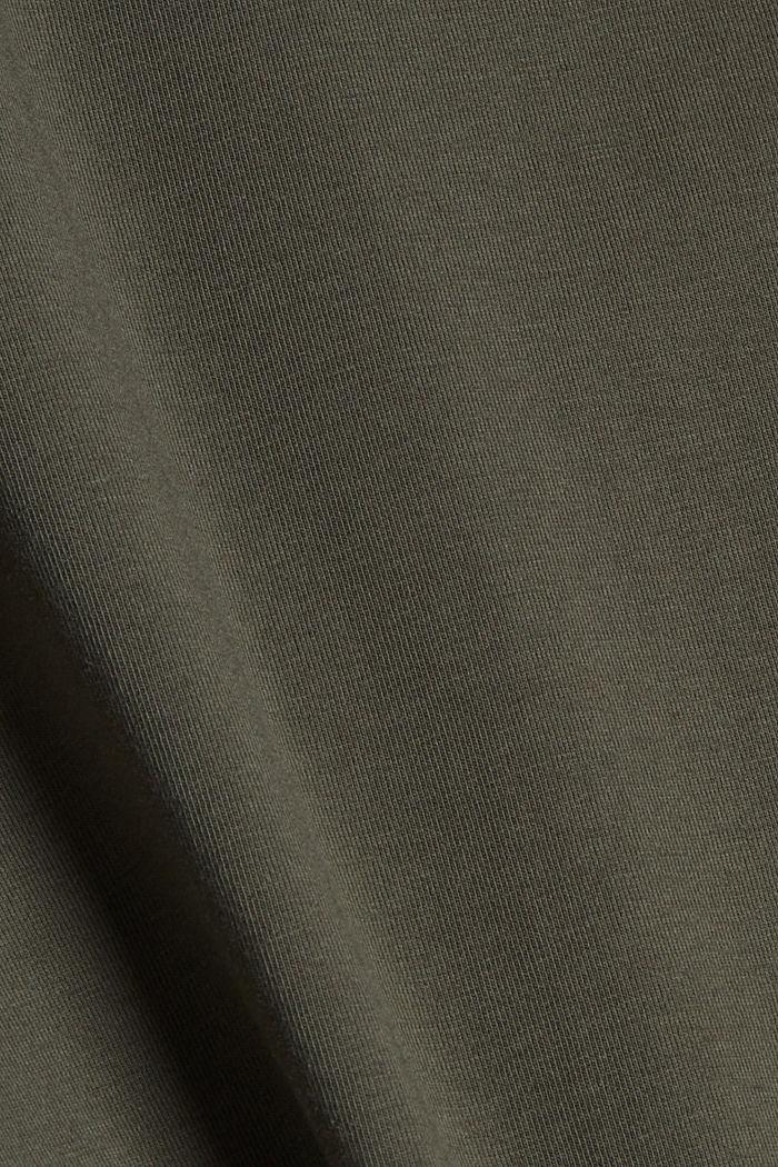 Sleeveless top with a drawstring, organic cotton, DARK KHAKI, detail image number 4