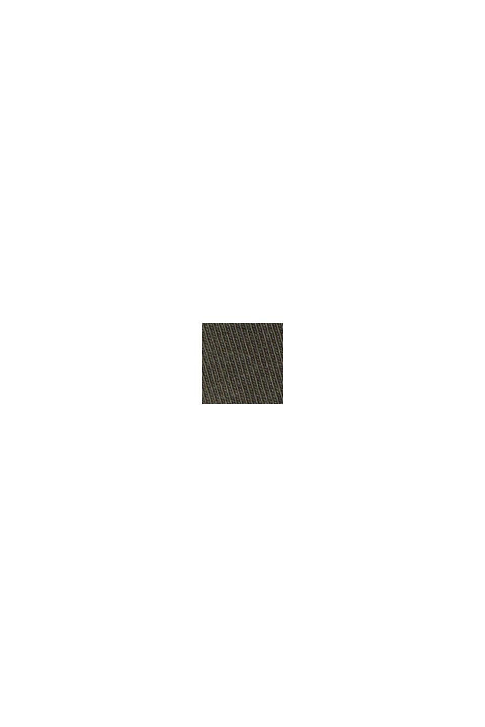 Maglia senza maniche con coulisse, cotone biologico, DARK KHAKI, swatch