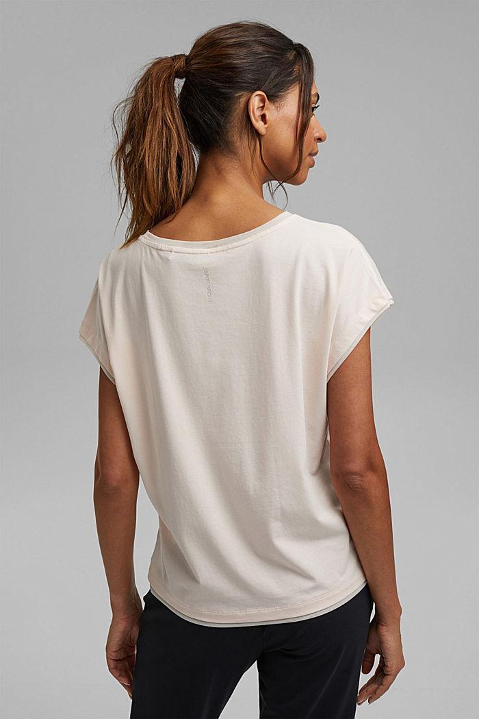 Printed T-shirt with mesh details, organic cotton, PASTEL PINK, detail image number 3