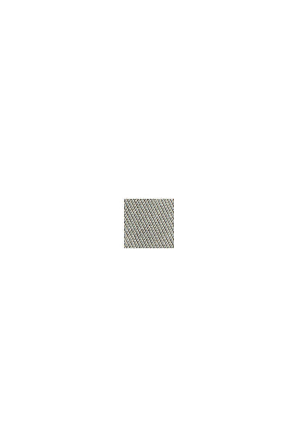 In cotone biologico/TENCEL™: maglia con coulisse, LIGHT KHAKI, swatch