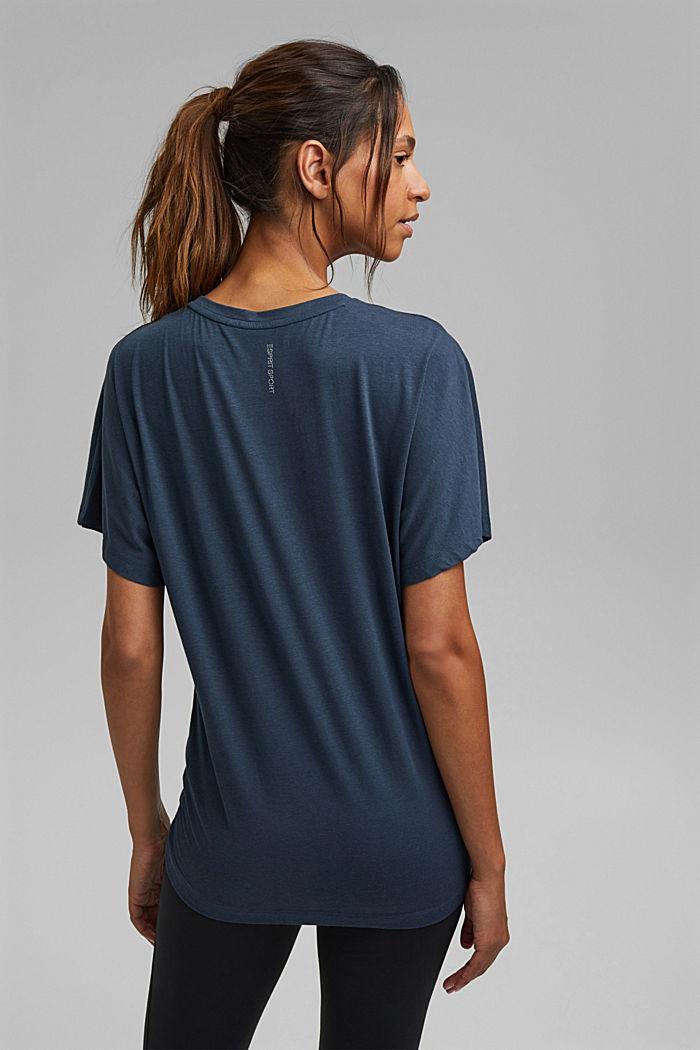 Aus Bio-Baumwolle/TENCEL™: Shirt mit Tunnelzug, NAVY, detail image number 3