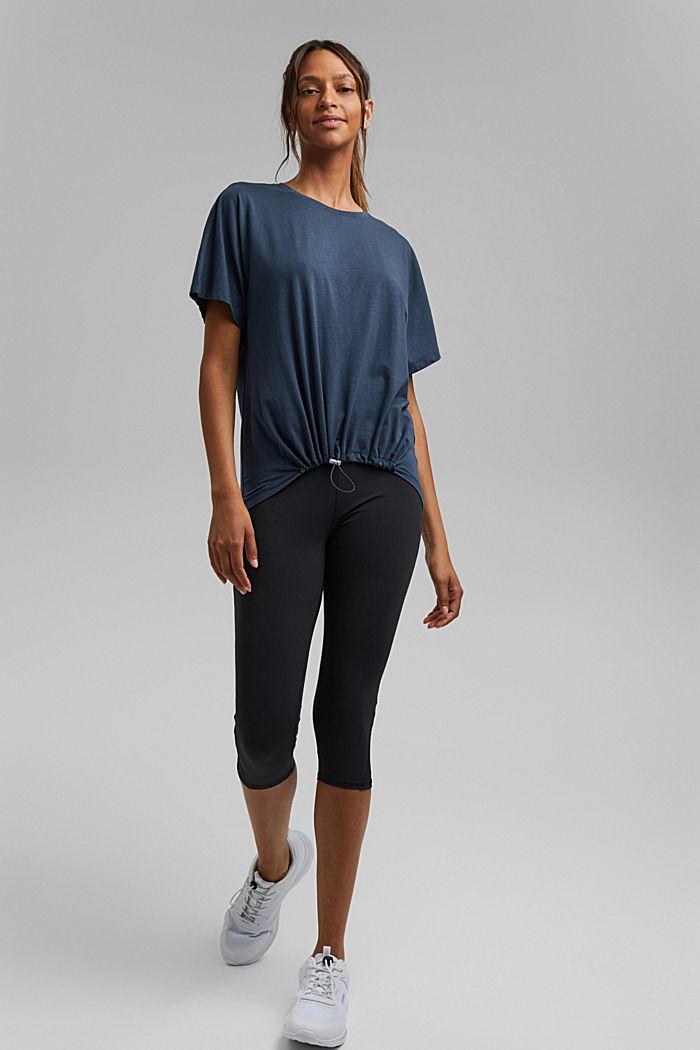 Aus Bio-Baumwolle/TENCEL™: Shirt mit Tunnelzug, NAVY, detail image number 1