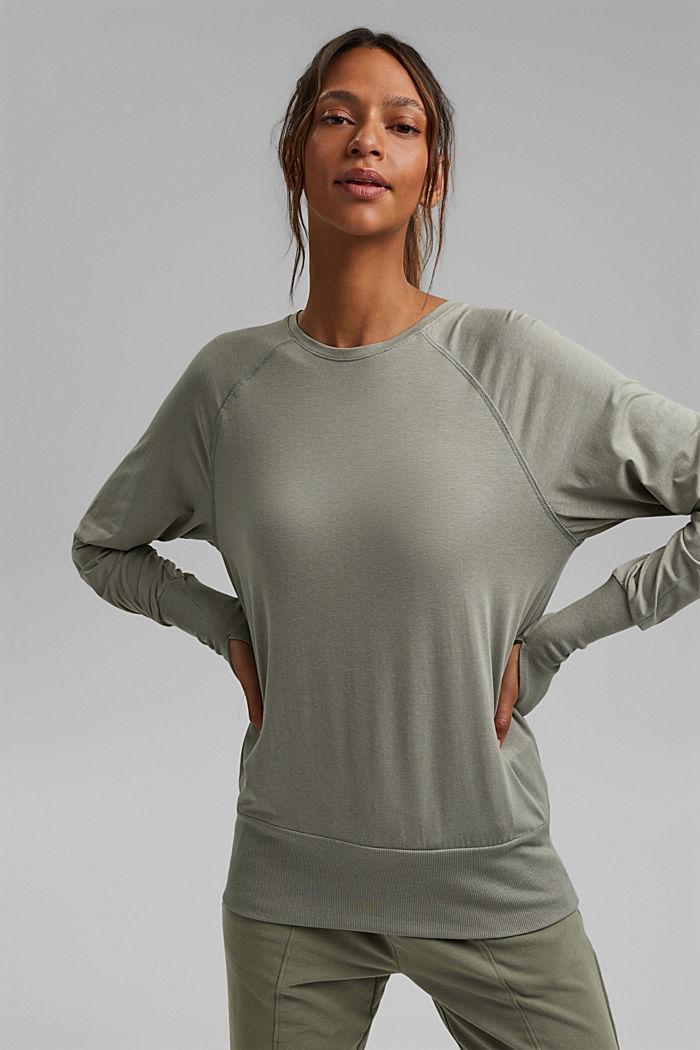 Cotone biologico/TENCEL™: maglia a maniche lunghe con intaglio