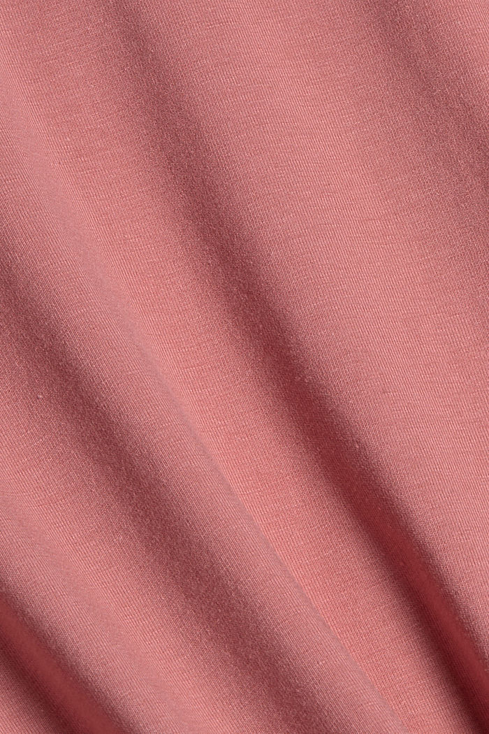 Organic cotton/TENCEL™: long sleeve top with cut-out, OLD PINK, detail image number 4