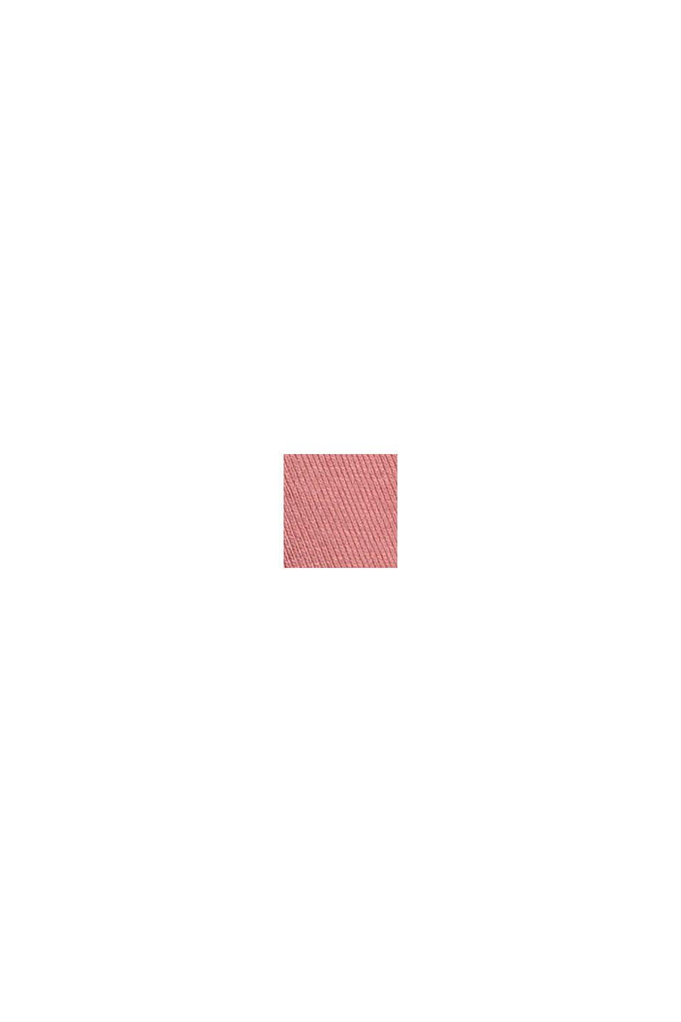 Cotone biologico/TENCEL™: maglia a maniche lunghe con intaglio, OLD PINK, swatch