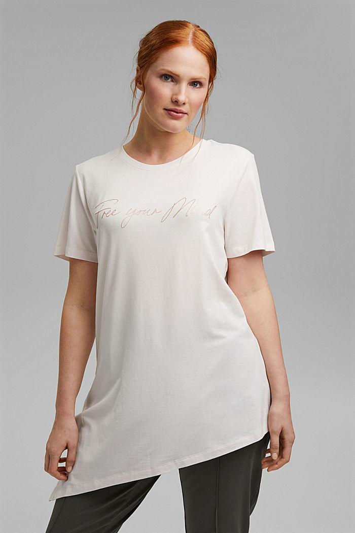 CURVY T-Shirt aus Bio-Baumwolle/TENCEL™:, PASTEL PINK, detail image number 0