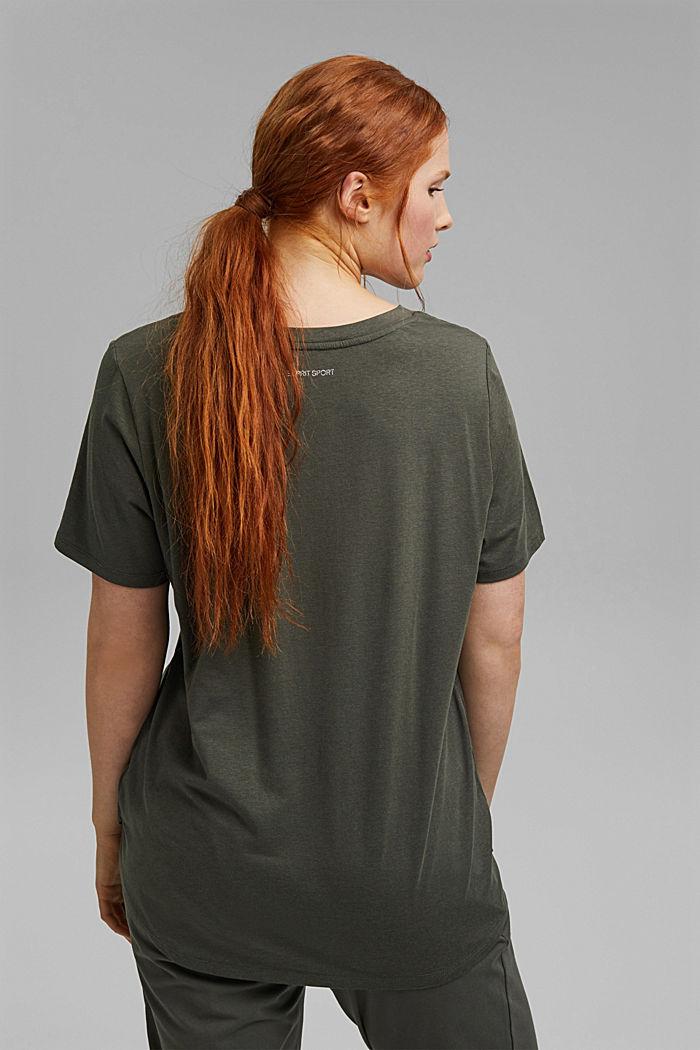 CURVY T-shirt made of organic cotton/TENCEL™, DARK KHAKI, detail image number 3
