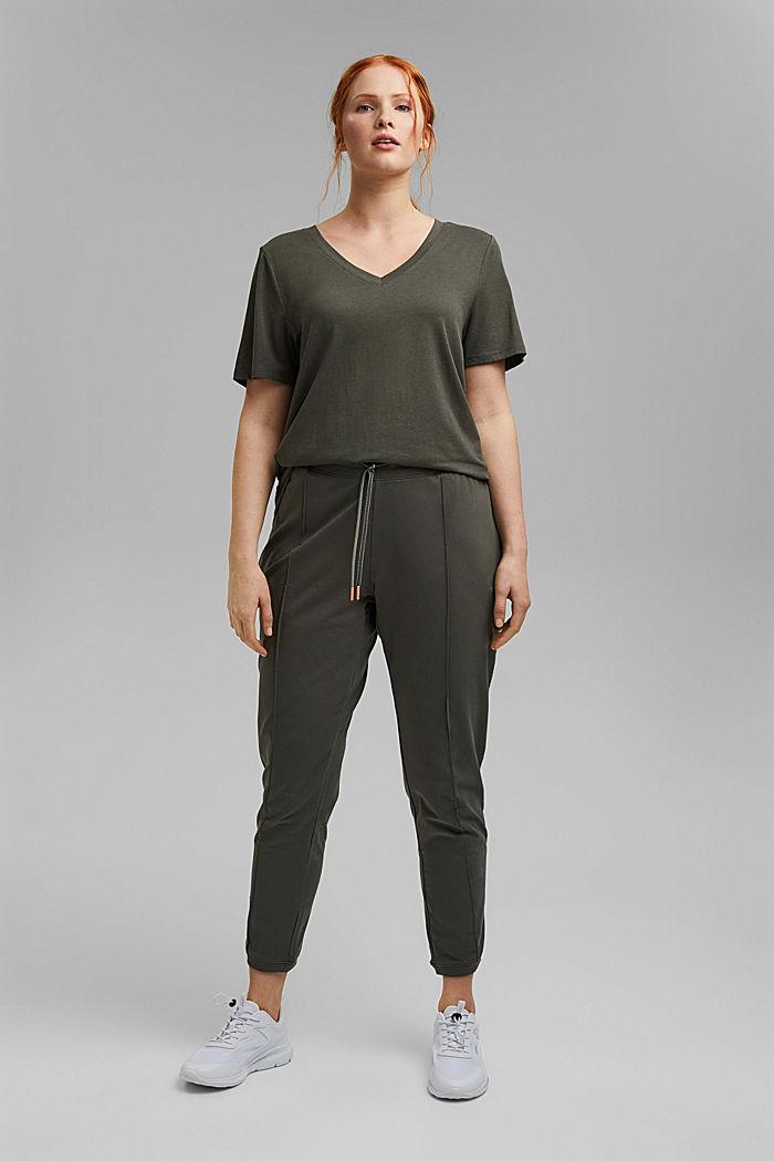 CURVY T-shirt made of organic cotton/TENCEL™, DARK KHAKI, detail image number 1
