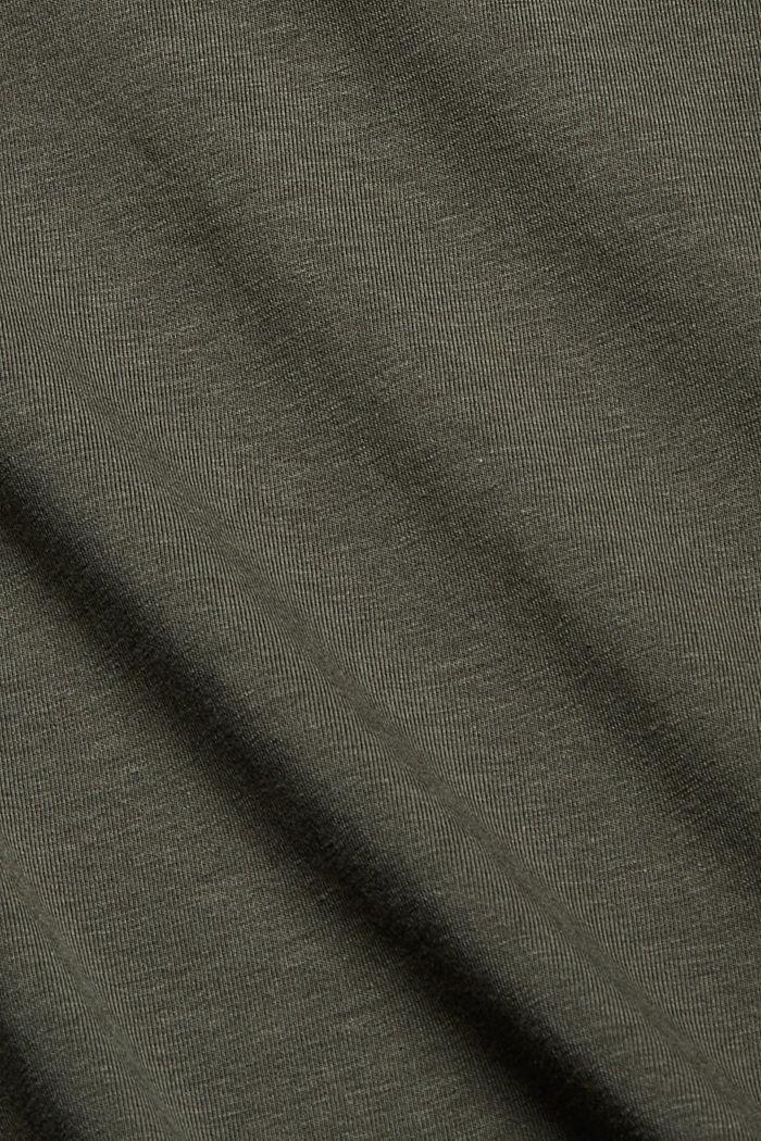 CURVY T-shirt made of organic cotton/TENCEL™, DARK KHAKI, detail image number 4