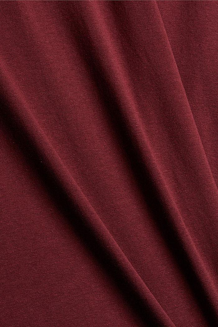 CURY T-Shirt aus Bio-Baumwolle/TENCEL™, BORDEAUX RED, detail image number 1