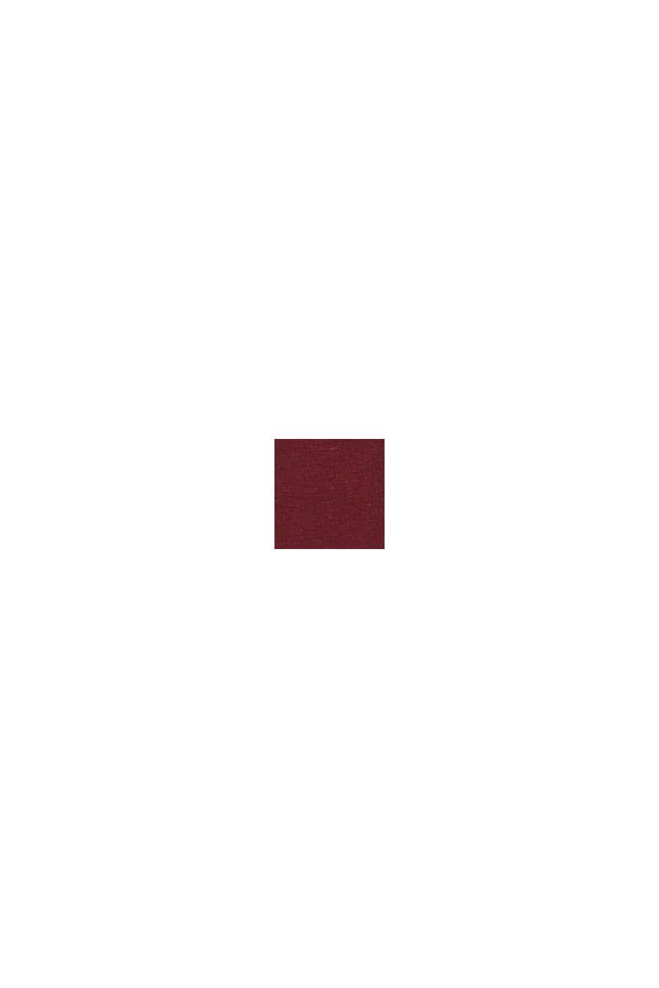 CURVY T-shirt van biologisch katoen/TENCEL™, BORDEAUX RED, swatch