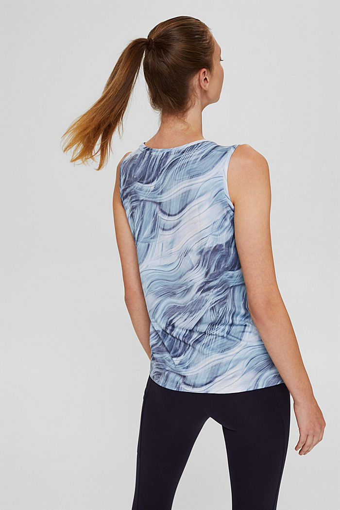 Recycelt: Print-Top mit E-DRY, PASTEL BLUE, detail image number 3