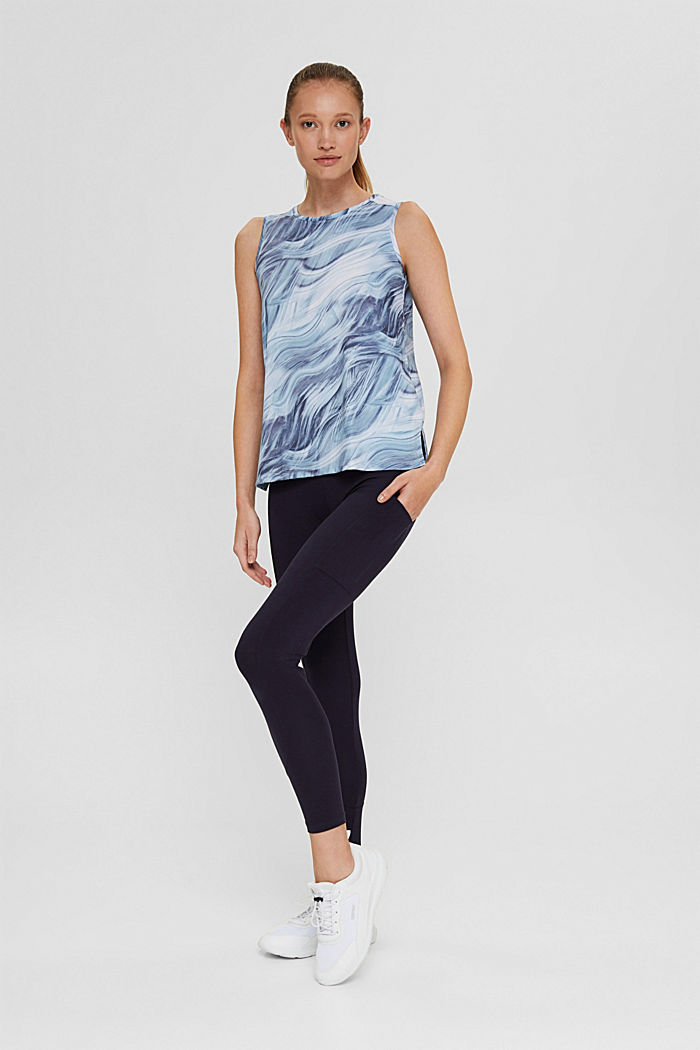 Recycelt: Print-Top mit E-DRY, PASTEL BLUE, detail image number 1