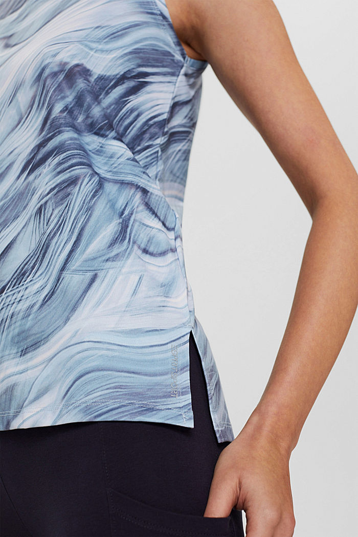 Recycelt: Print-Top mit E-DRY, PASTEL BLUE, detail image number 2