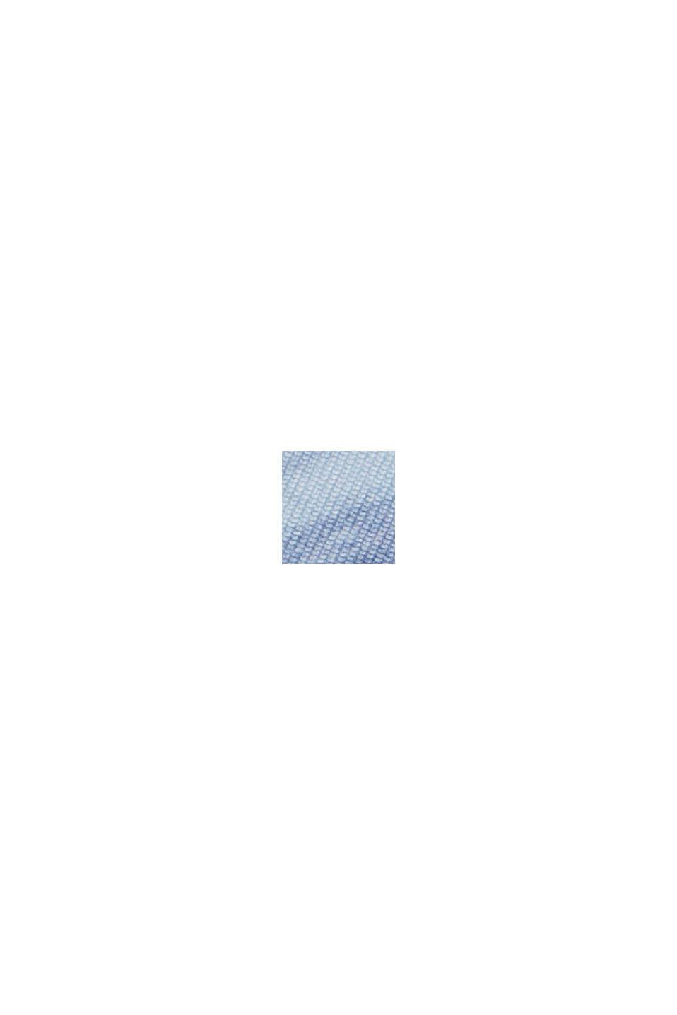 Gerecycled: top met print en E-DRY, PASTEL BLUE, swatch