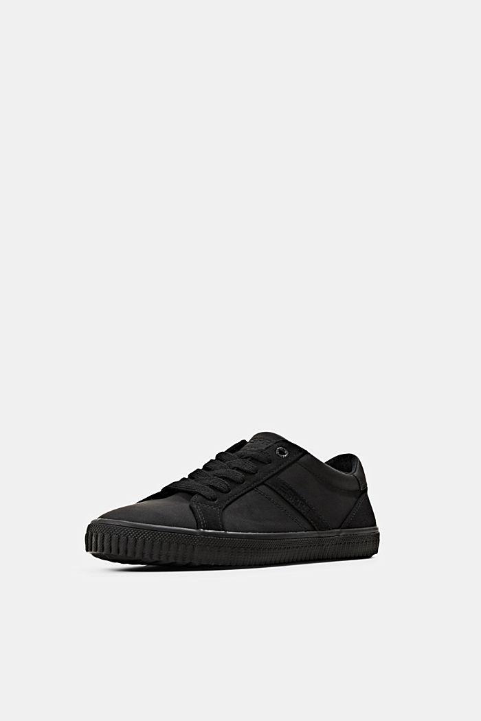 Sneakers in Lederoptik, BLACK, detail image number 2