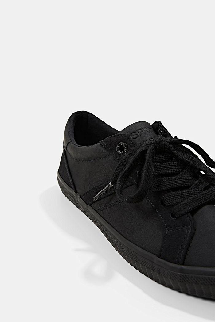 Sneakers in Lederoptik, BLACK, detail image number 4