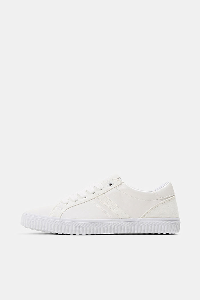Sneakers in Lederoptik, WHITE, detail image number 0