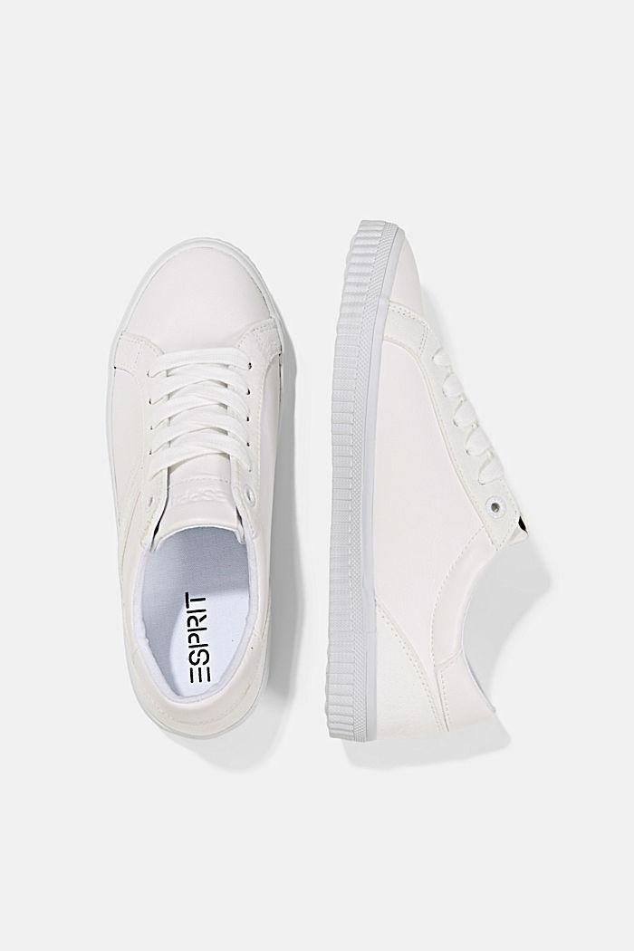 Sneakers in Lederoptik, WHITE, detail image number 1
