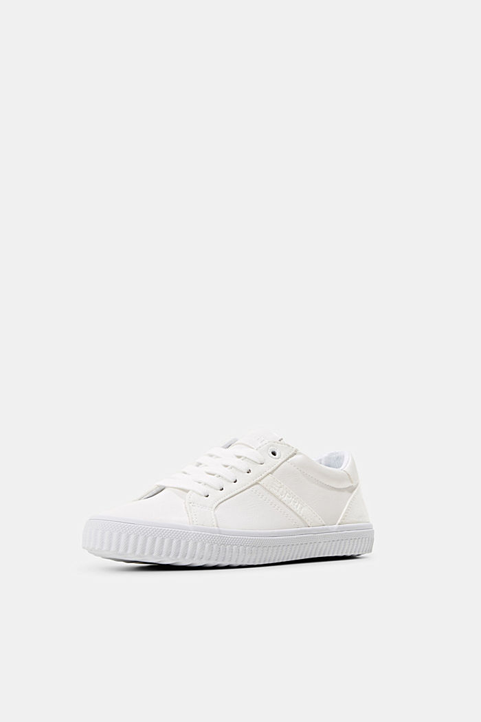 Sneakers in Lederoptik, WHITE, detail image number 2