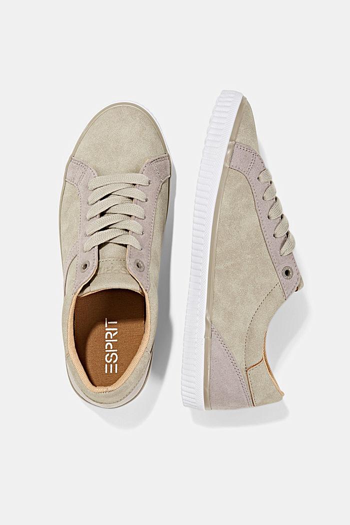 Sneakers van imitatieleer, TAUPE, detail image number 1