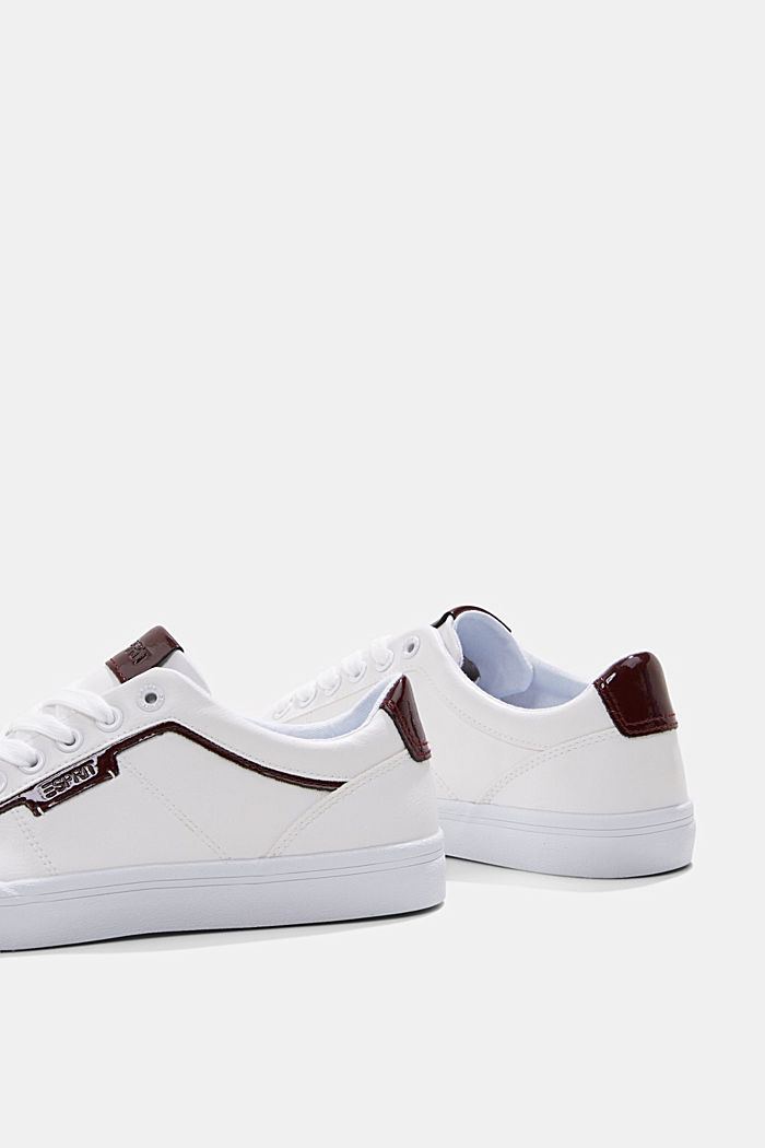 Material blend trainers in faux leather, WHITE, detail image number 5