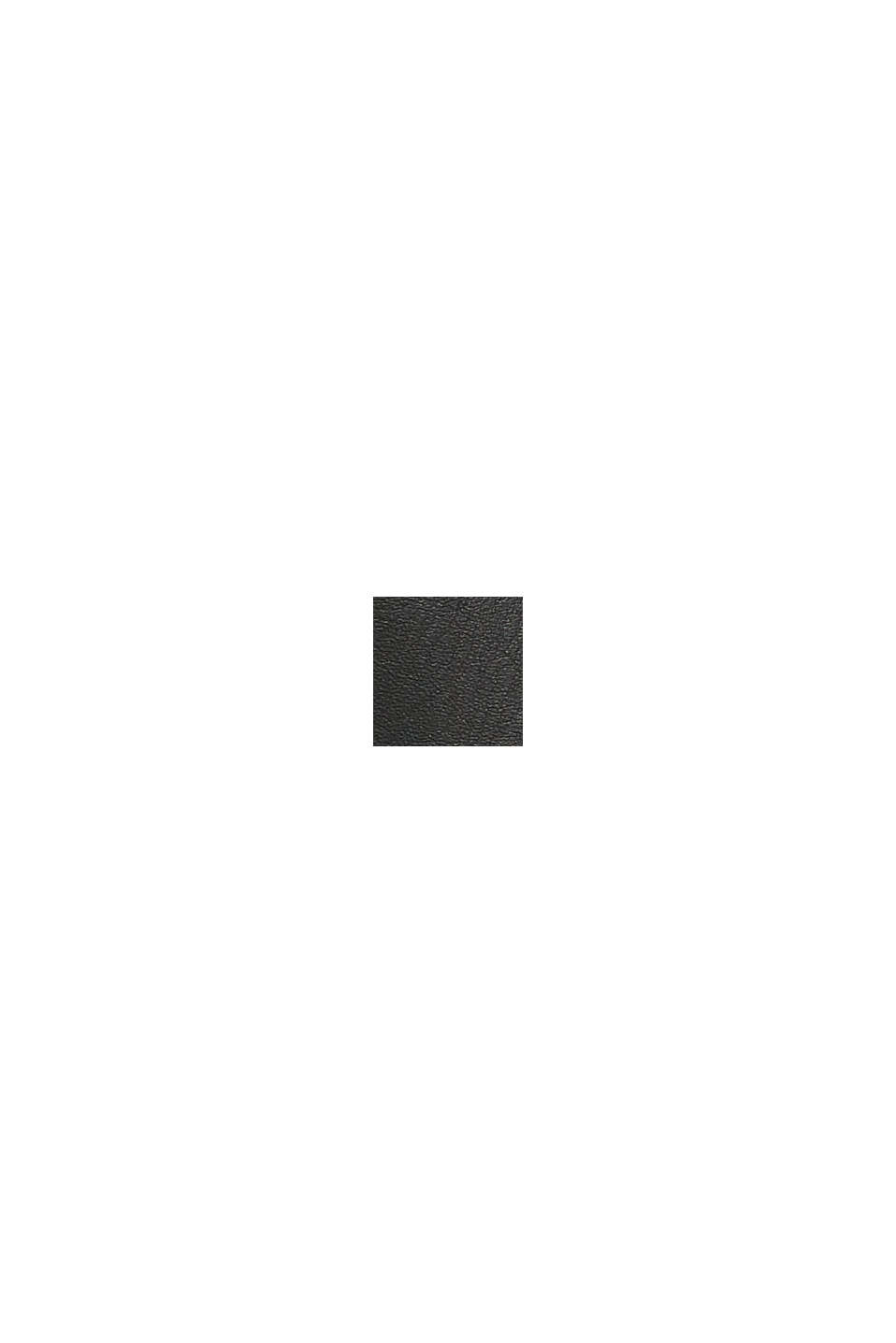 Sneaker aus Materialmix in Lederoptik, BLACK, swatch