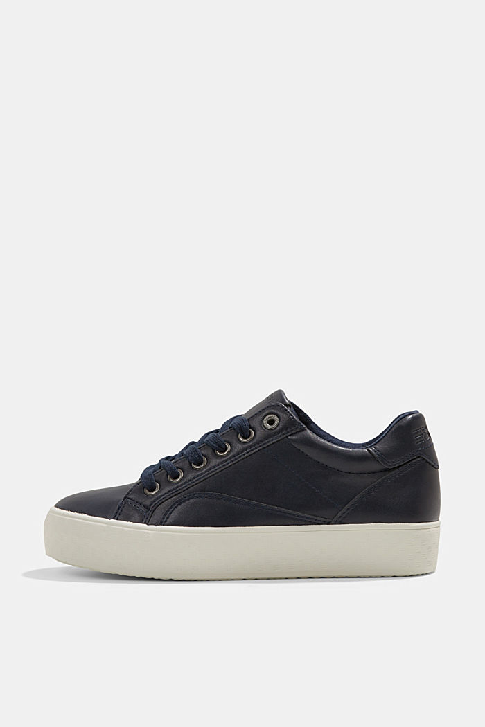 Plateau-Sneaker mit Monogramm in Lederoptik