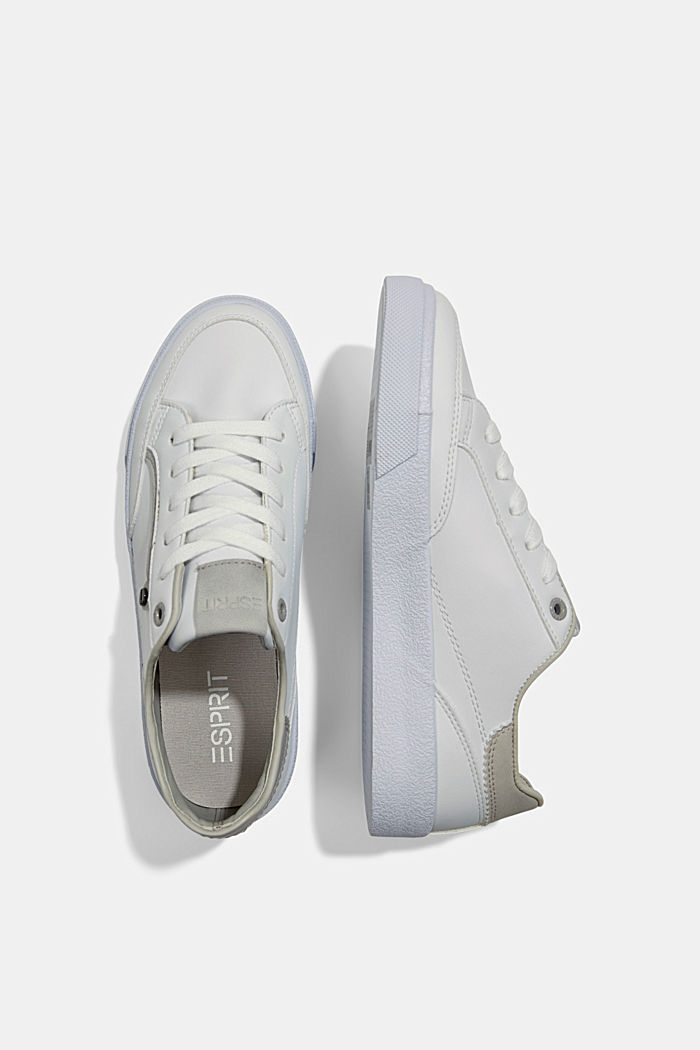 Sneakers van imitatieleer, GREY, detail image number 1