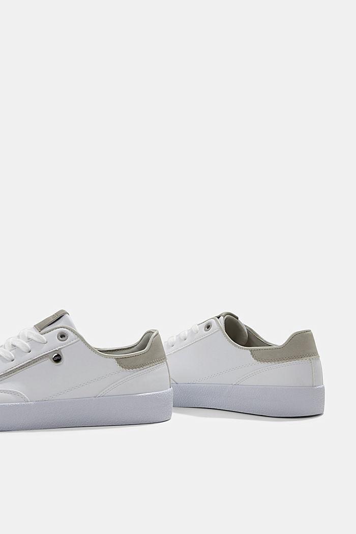 Sneakers van imitatieleer, GREY, detail image number 5