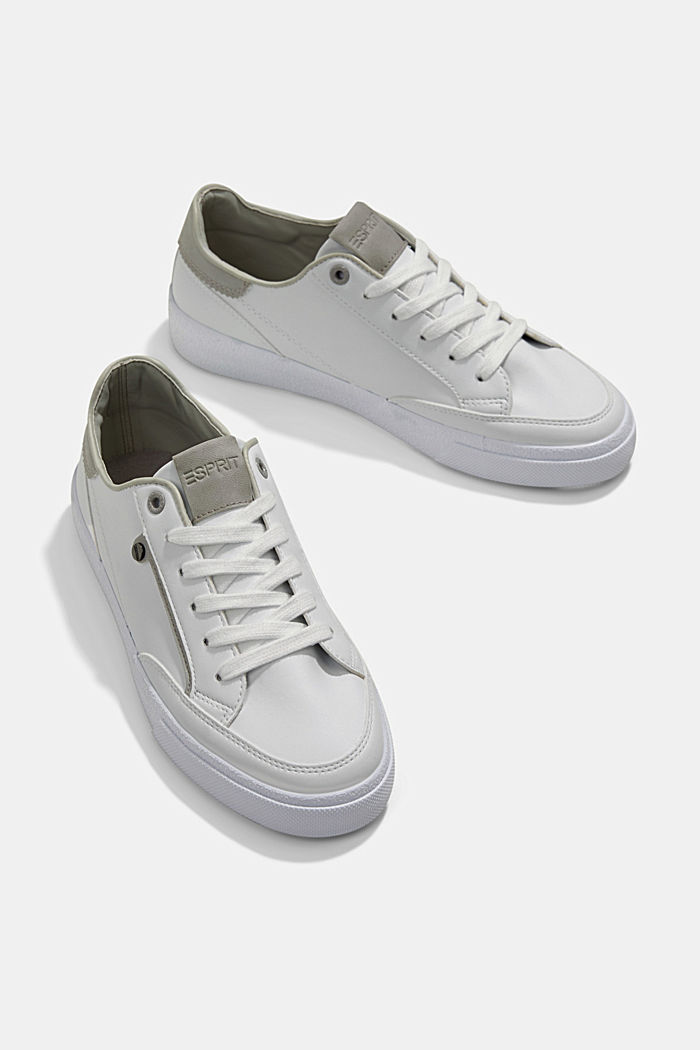 Sneakers van imitatieleer, GREY, detail image number 6