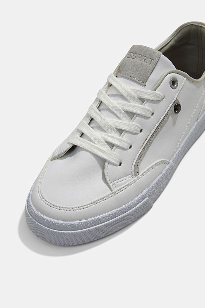 Sneakers van imitatieleer, GREY, detail image number 4